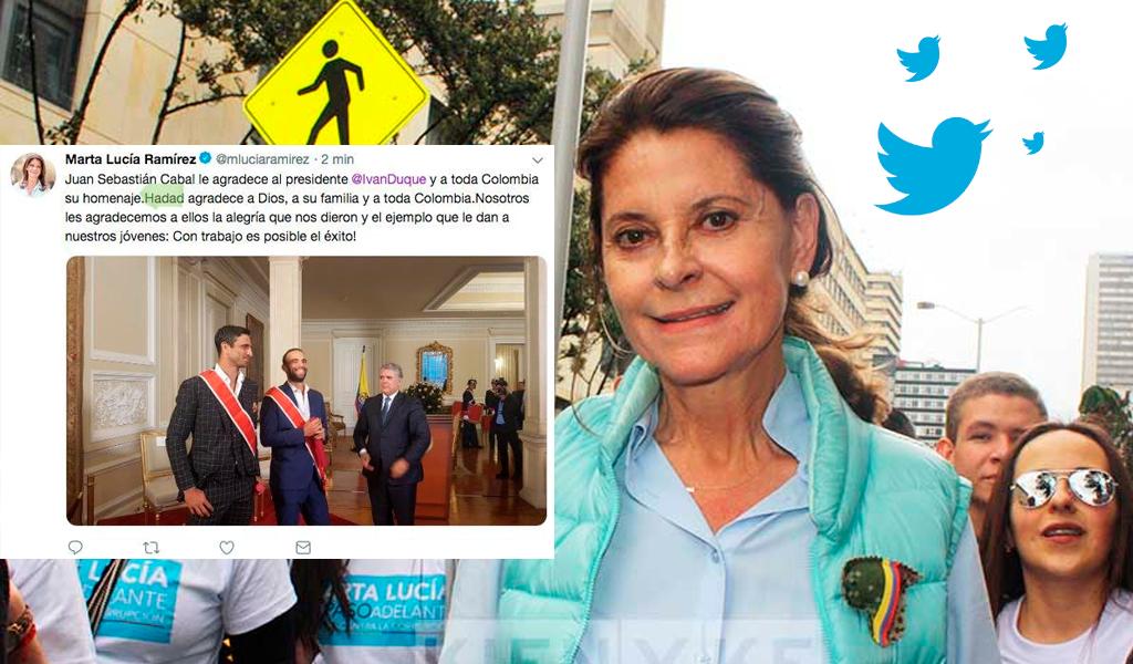 """Vicepresidenta se """"descancha"""" de nuevo en Twitter"""