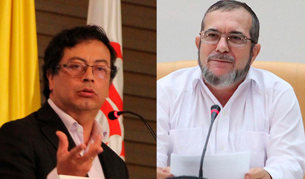 Petro pide a Farc no imitar uribismo, Timochenko responde