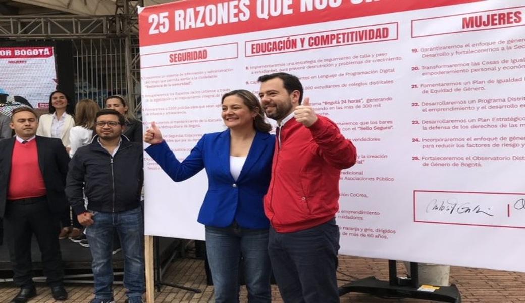 Ángela Garzón se unió a campaña de Carlos Fernando Galán