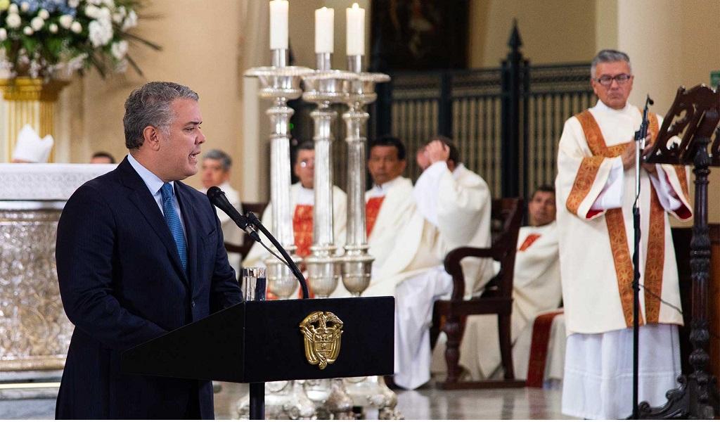 misa, populismo, violencia, Iván Duque, presidente de Colombia, misa del Bicentenario