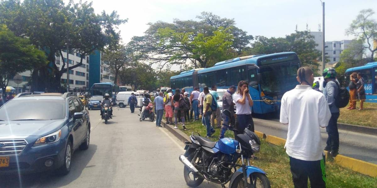 Racha de accidentes en Cali que involucran buses del MIO