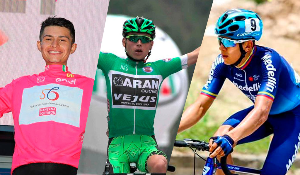 Ciclistas, Camilo Ardila, Einer Rubio, Harold Tejada