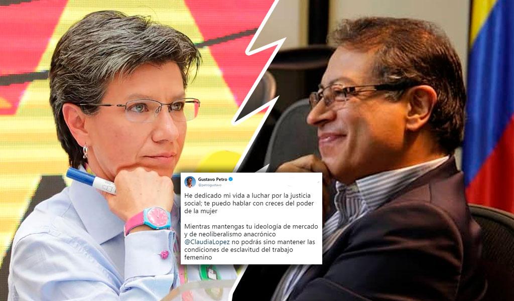 Claudia López exige a Petro que respete a las mujeres
