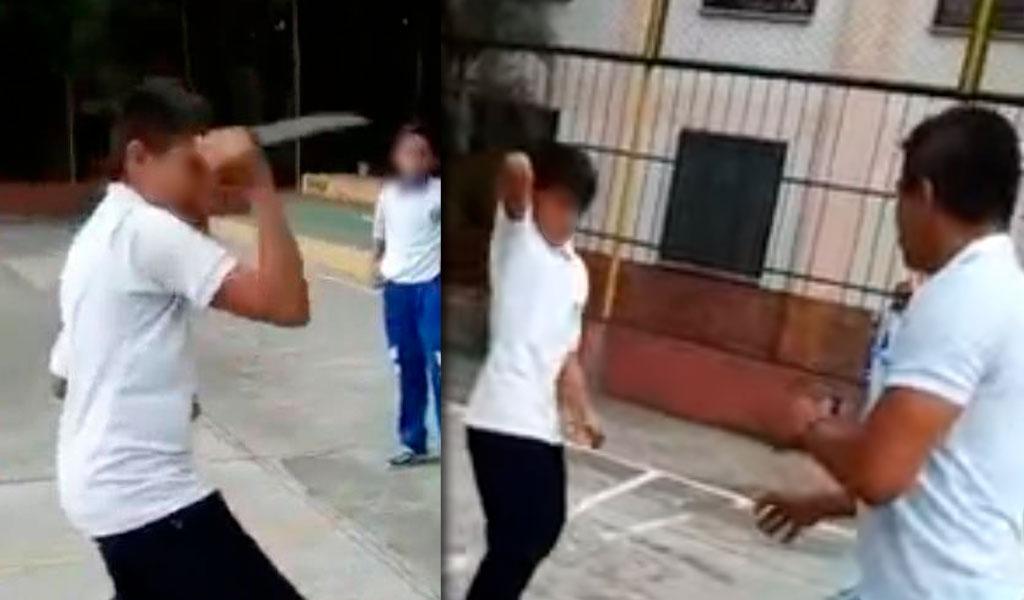 Estudiante amenazó con cuchillo a profesor en Bucaramanga