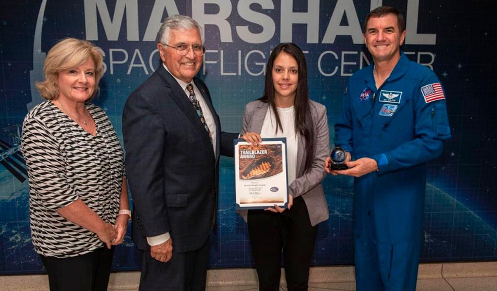 Colombiana fue reconocida por su aporte a la NASA
