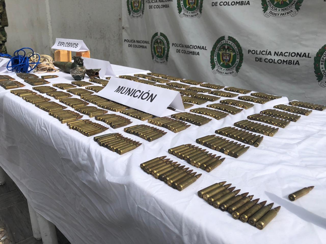 Ejército ubica depósito de explosivos en Putumayo