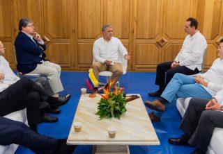 Duque y altos funcionarios evalúan sus 18 meses de gobierno