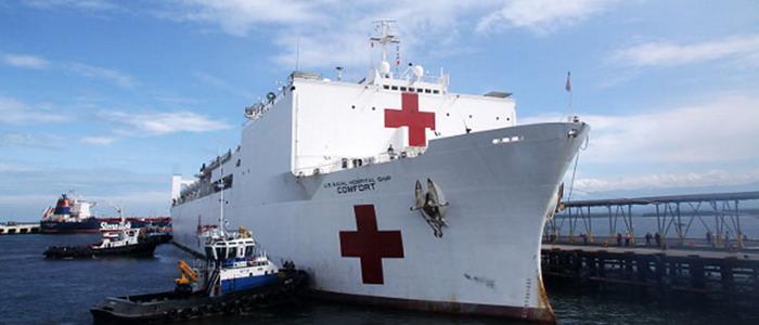 Ya está en Colombia el buque hospital estadounidense