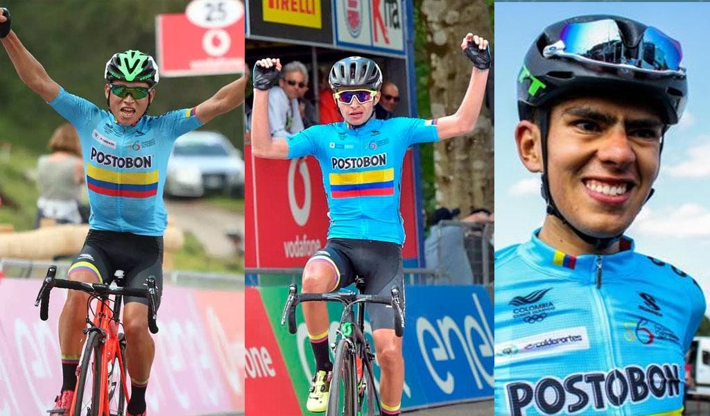 Ciclistas colombianos que llegaron pedaleando a Europa