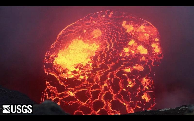 Bajo el hielo encuentran el octavo lago de lava del mundo