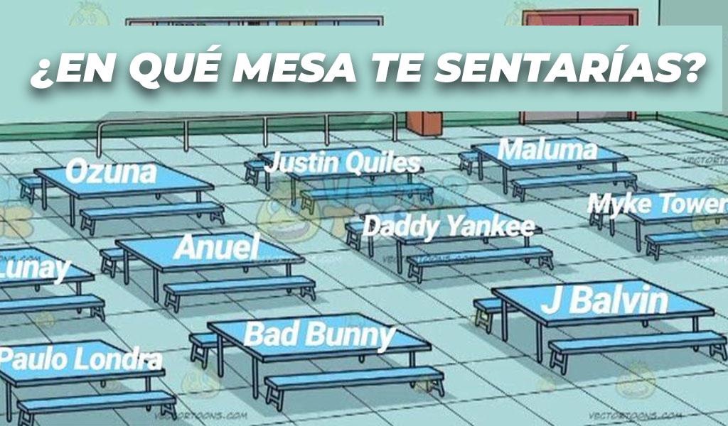 'En qué mesa te sentarías' el nuevo meme viral
