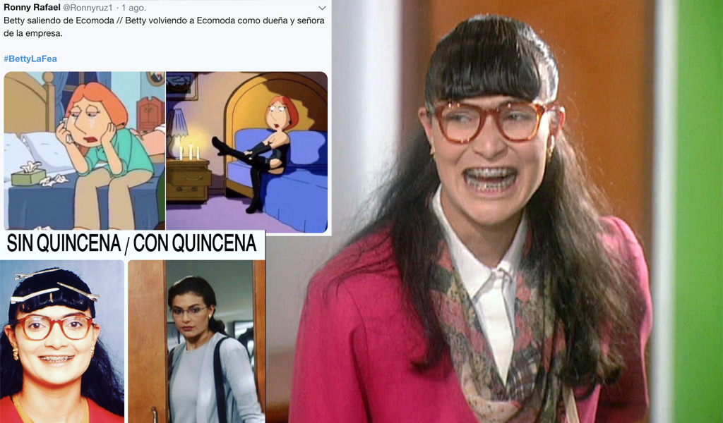 Betty la fea, regreso, Ecomoda, Twitter, redes sociales, tendencia, video, memes