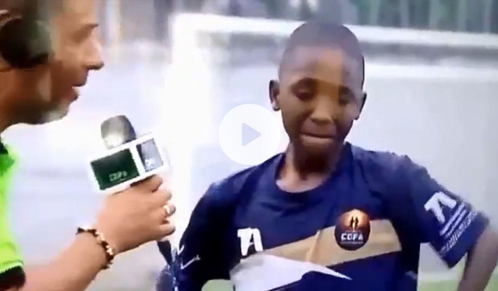 Niño conmueve al llorar por ganar un partido de fútbol