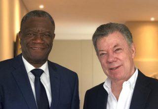 Santos recibe en su casa al nobel de paz Mukwege
