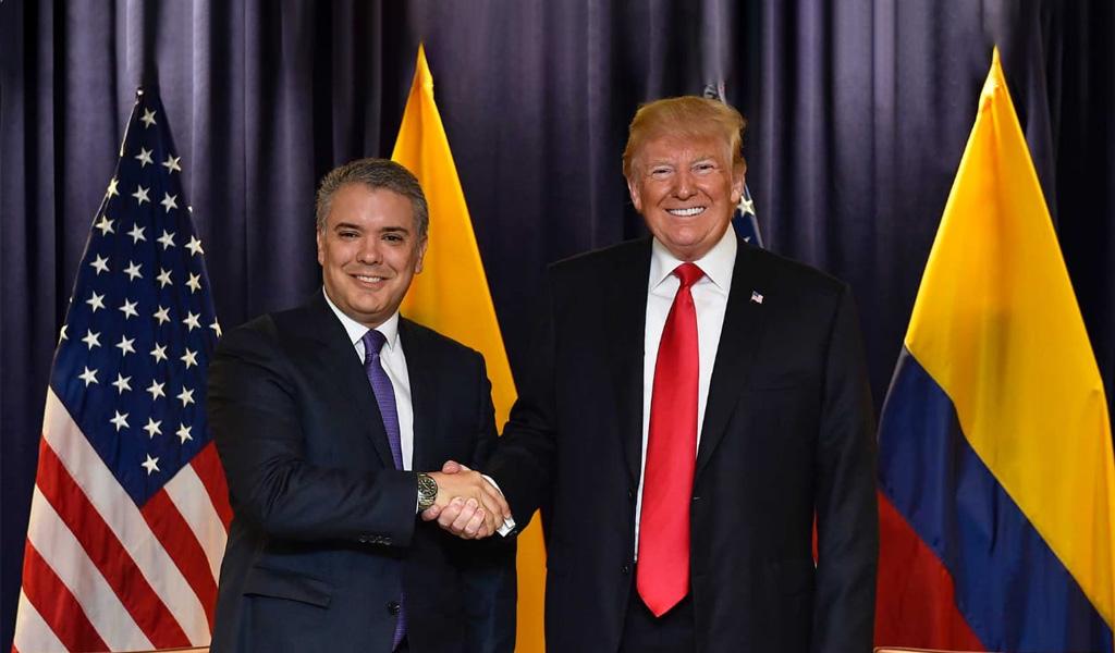 Trump certifica a Colombia en lucha antidrogas