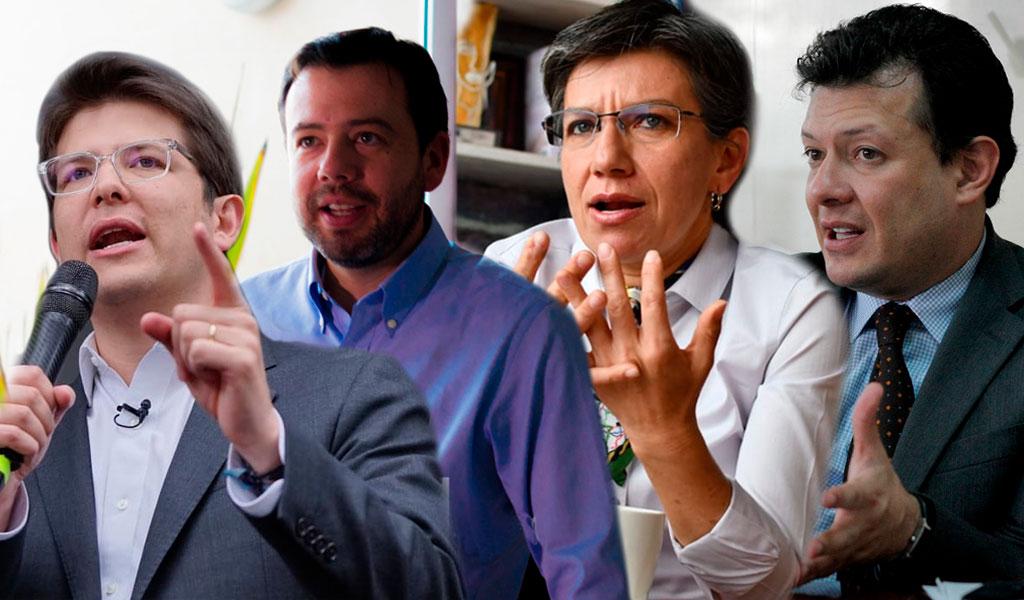 Galán y Uribe empataron en intención de voto en Bogotá