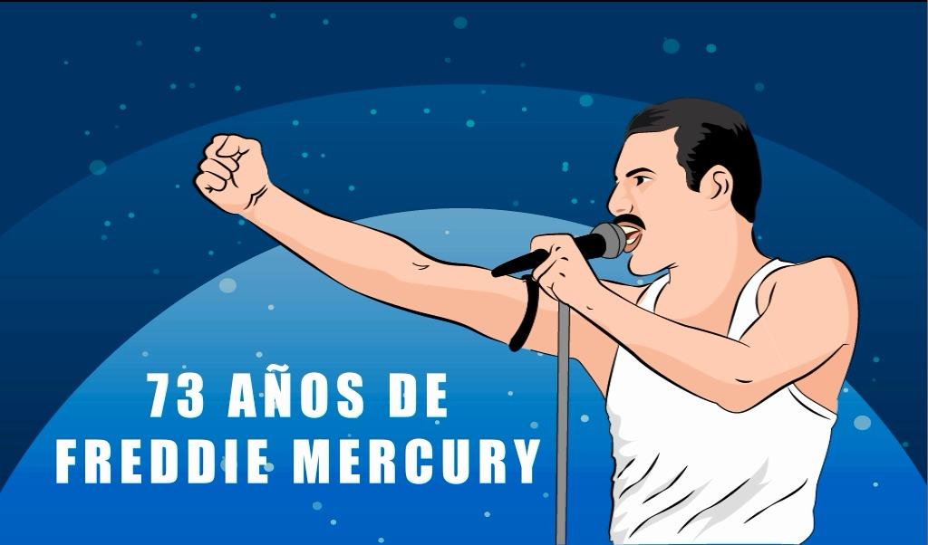 73 Años de Freddie Mercury