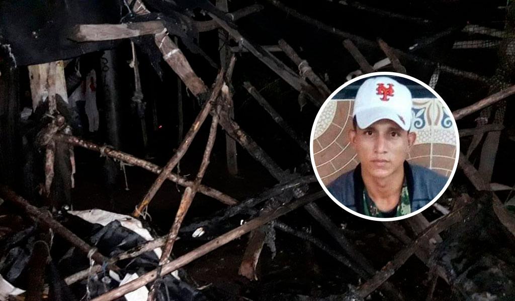 Con rabia quemaron casa del presunto asesino de un bebé