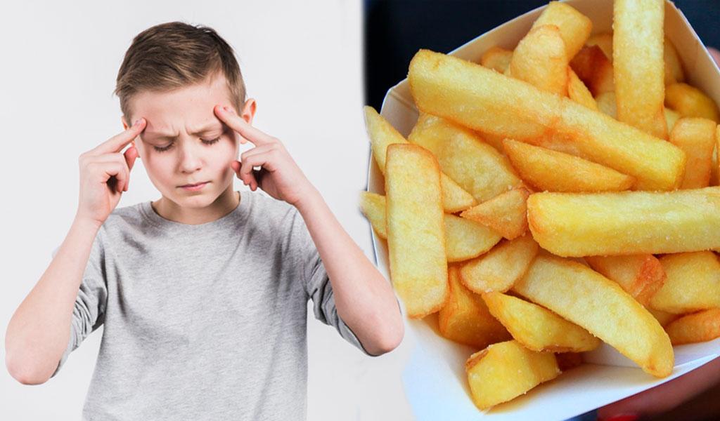 Niño perdió parte de su visión por comer papas fritas
