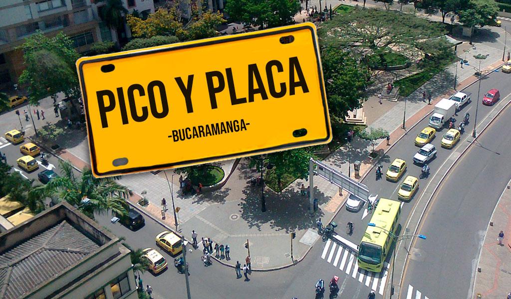 Nuevo cambio en el pico y placa de Bucaramanga
