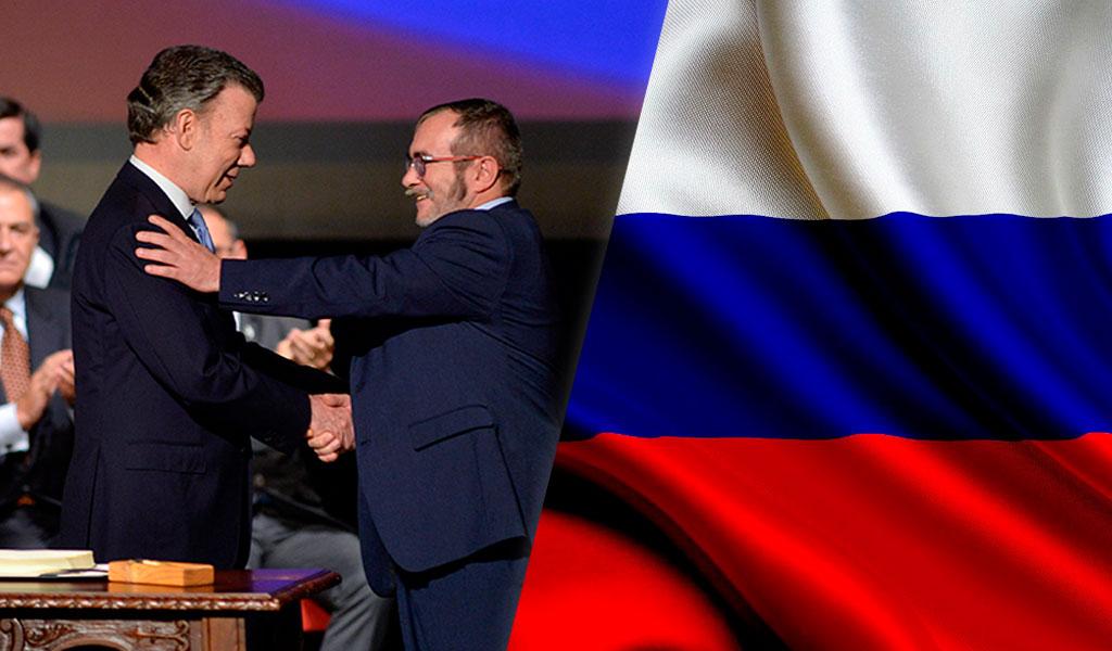Rusia insta al mundo a apoyar proceso de paz en Colombia