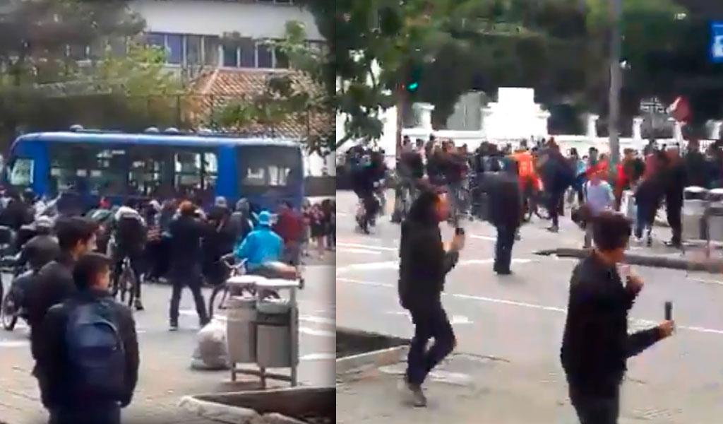 En los disturbios de la Pedagógica vandalizaron SITP