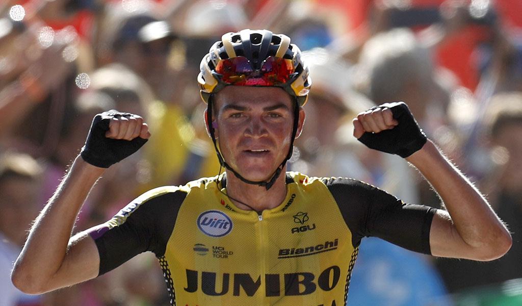 Guss ganó la etapa y Roglic sigue líder
