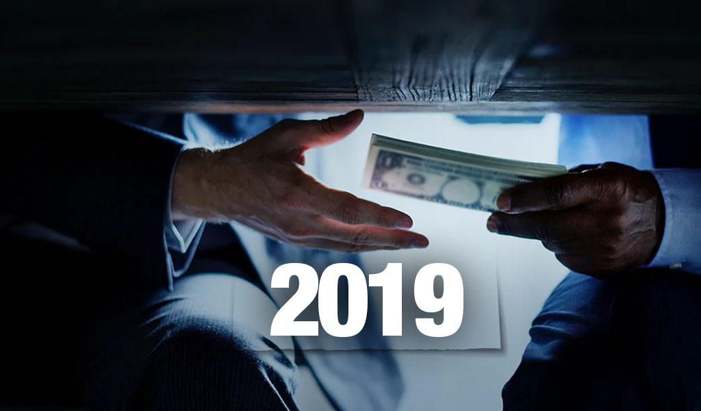 En 2019 van más de 300 actos de corrupción contra el Estado
