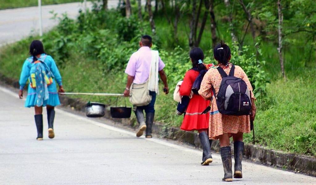 Indígenas en Antioquia confinados por enfrentamientos armados