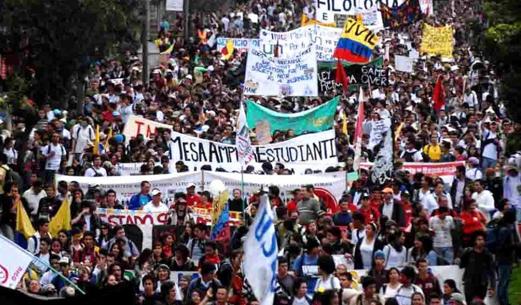 Puntos de concentración de marchas estudiantiles