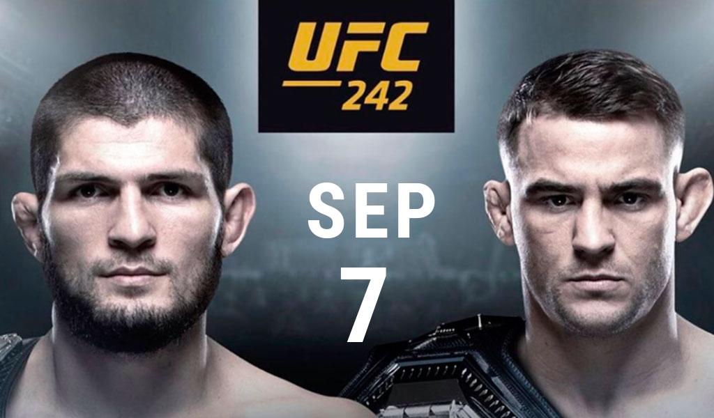 Khabib vs Dustin Poirier se enfrentarán en UFC 242