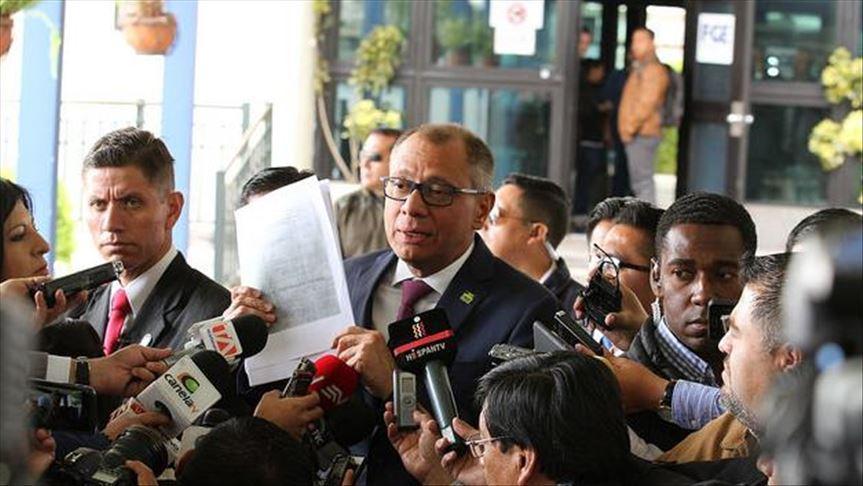 Exvicepresidente de Ecuador es acusado de corrupción
