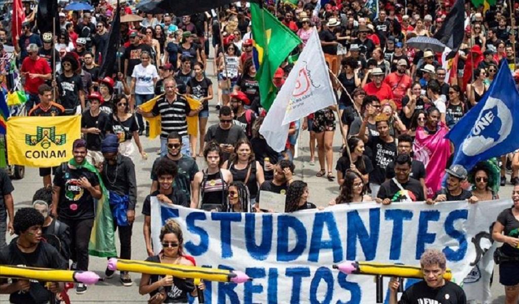 Protestas, estudiantes, protesta estudiantil, Bolsonaro, educación, Amazonas