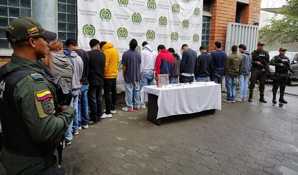 Ofensiva contra criminalidad en Valle de Aburrá dejó 102 capturados