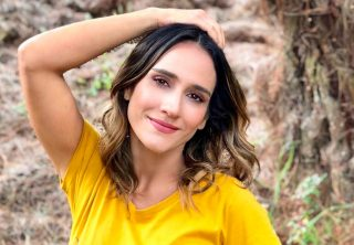 Las sensuales fotos de Chichila Navia en vestido de baño