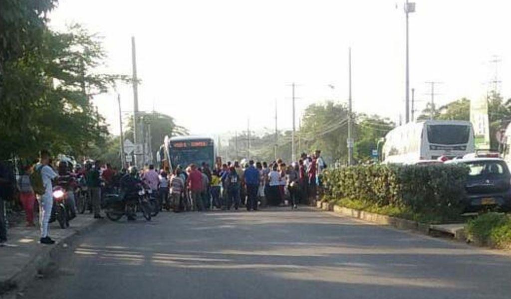 Bloqueos por protestas en Cartagena