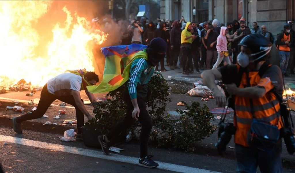 Este es el saldo de los disturbios en Barcelona