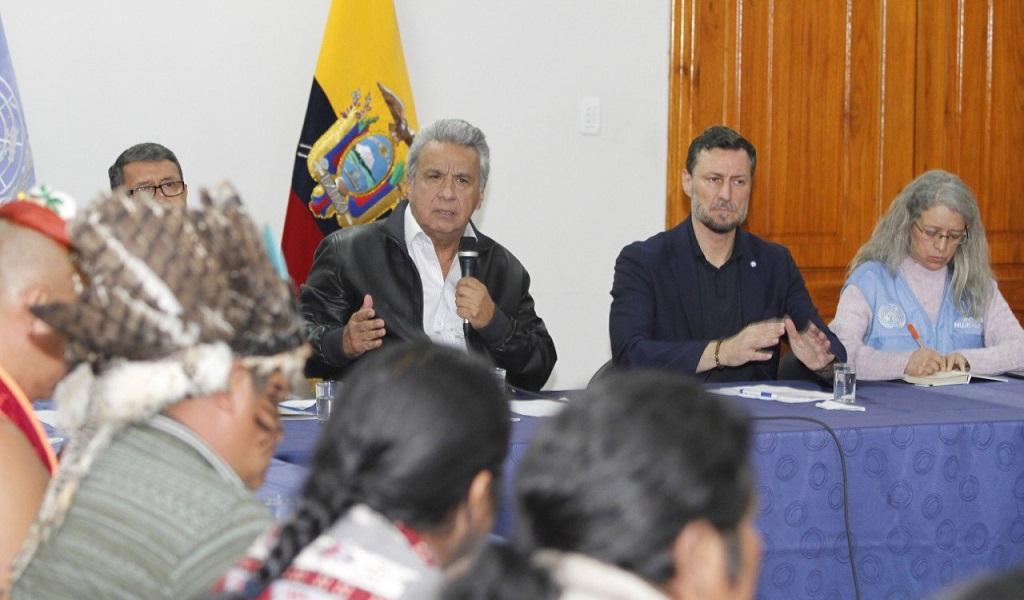 Lenín Moreno, marchas, Ecuador, protestan, diálogo, indígenas, paro