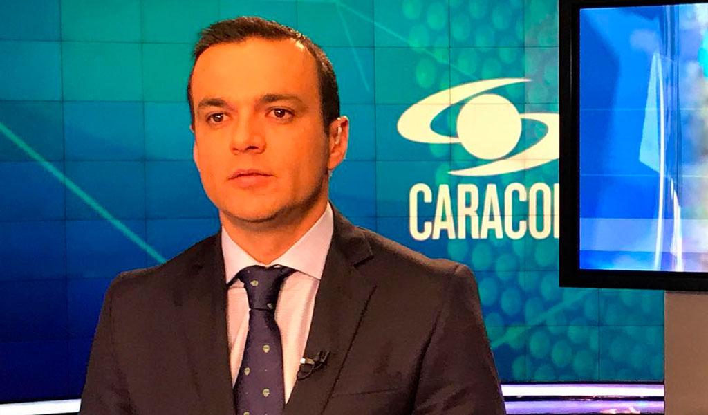 """Colega """"boleteó"""" a Juan Diego Alvira en vivo"""