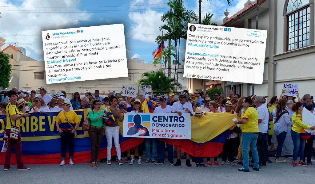 Marcha uribista en Miami trascendió a discusiones en redes