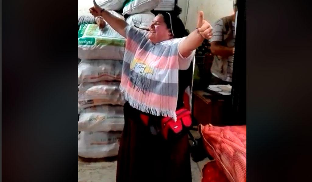 Monja Uribista reapareció en la Minorista en Medellín