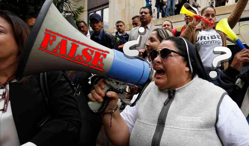 ¿De dónde salió la monja que apoyó a Uribe?