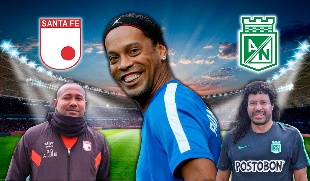 Fiesta y aplausos para Ronaldinho en Bogotá