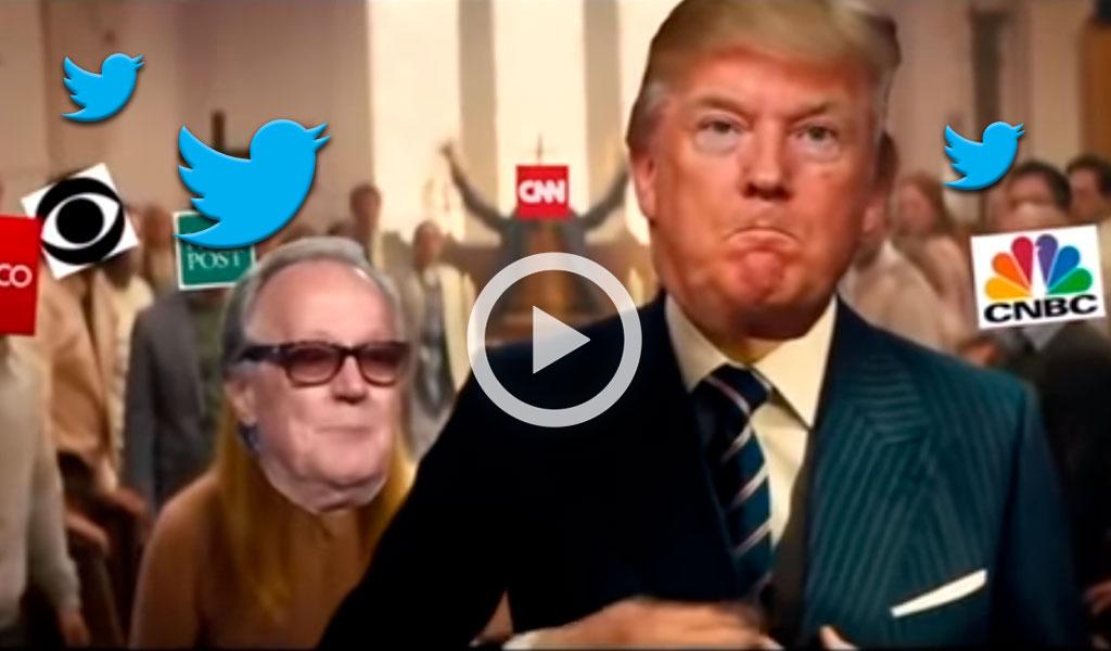 """Rechazo ante video: Trump, el asesino de """"fake news"""""""