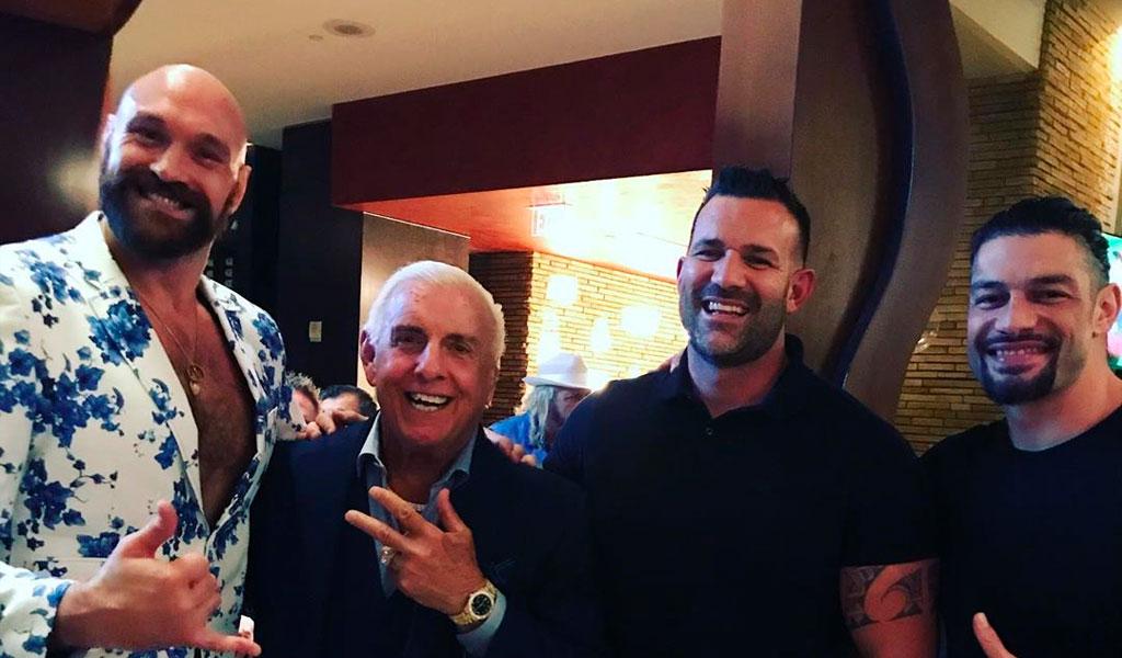 Tyson Fury y Floyd Mayweather en Las Vegas