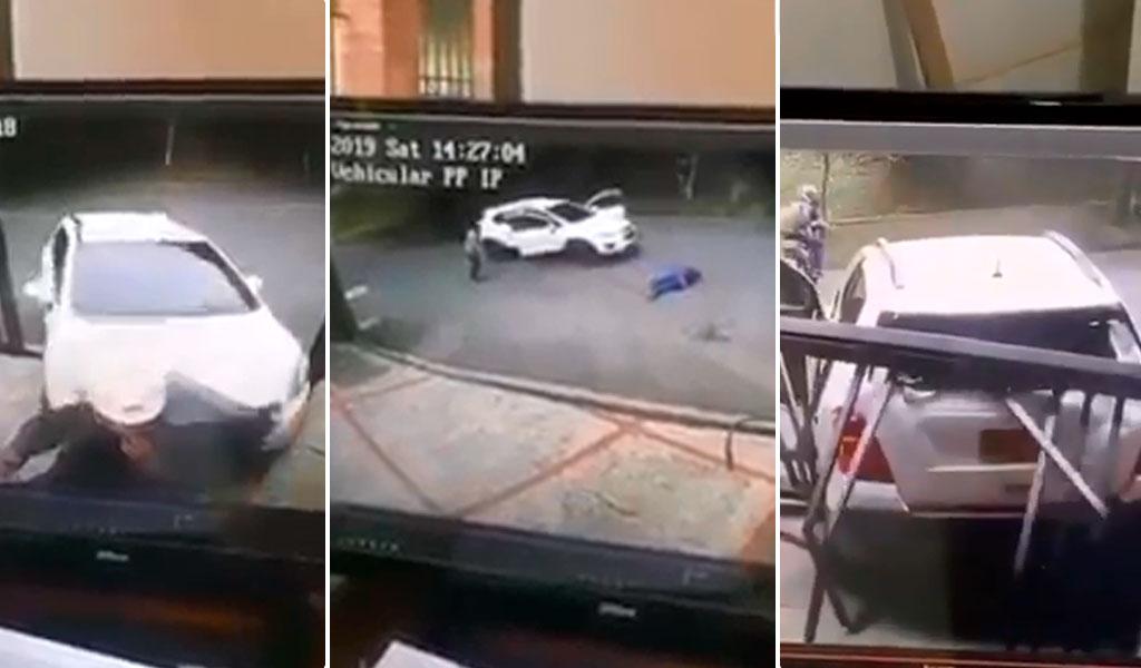 Mujer pierde el control de su vehículo y causa accidente