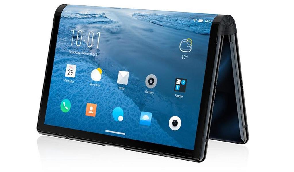 Presentan un 'smartphone' que se dobla en tres partes
