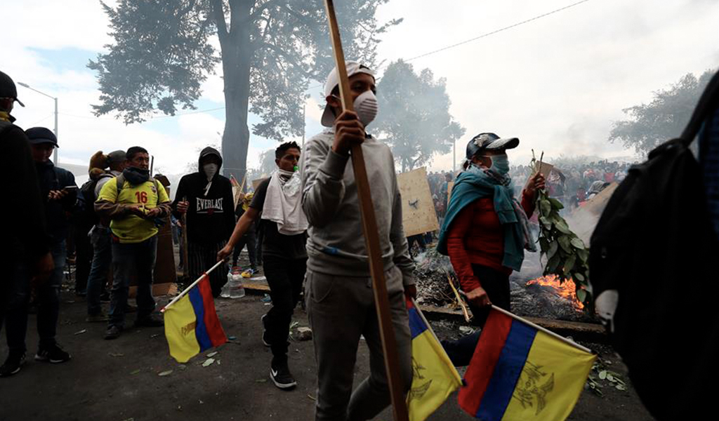 Ecuador envuelto en protestas