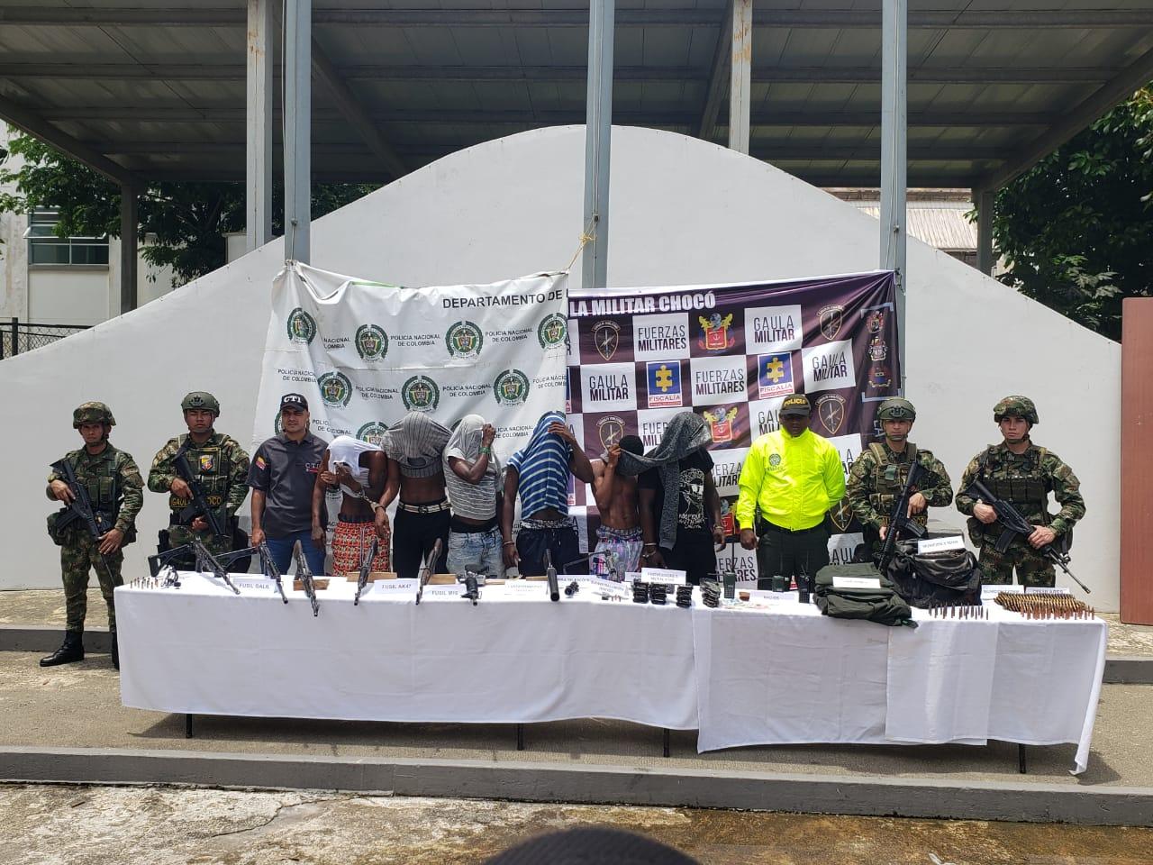 Capturados seis integrantes del Eln en Chocó