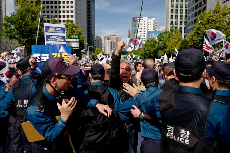 privilegios, protestas, Corea del Sur, manifestaciones